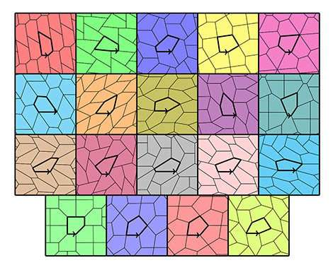 There are only 15 possible pentagonal tiles, research proves