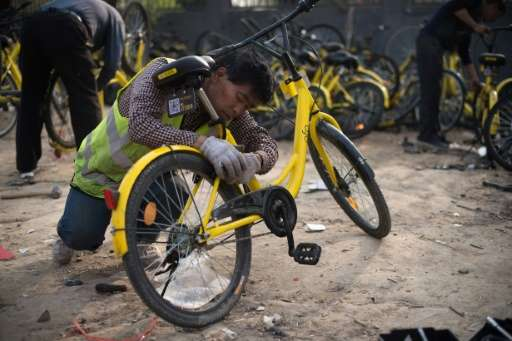 There were 18.9 million users of shared bicycles nationwide in 2016 and that number is expected to rise to 50 million by the end