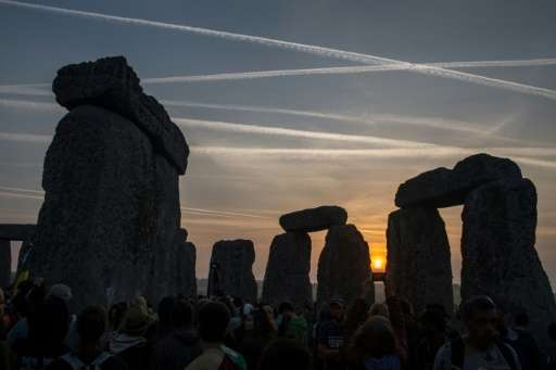 The site of Stonehenge in England was built in stages, from around 3,000 BC to 2,300 BC