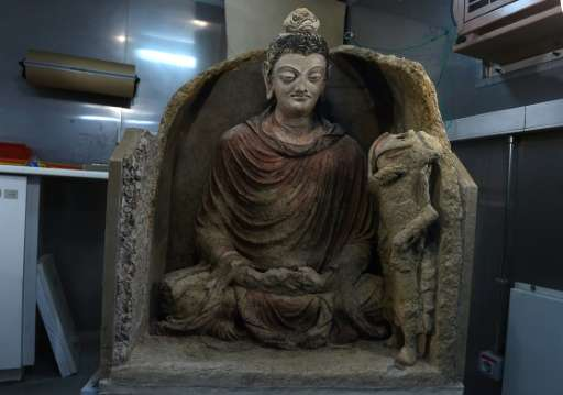 The statue of Buddha, which is thought to date from somewhere between the third and the fifth century, was remarkably well-prese