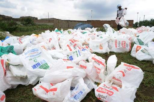 The UN Environment Programme estimates that Kenyan supermarkets hand out as many as 100 million plastic bags every year