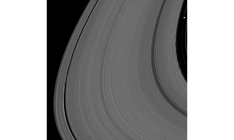 To keep Saturn's A ring contained, its moons stand united