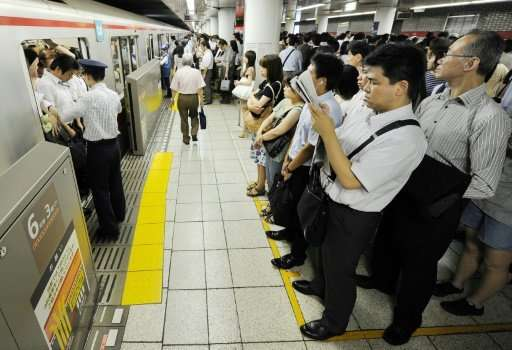 Tokyo trains are notoriously busy