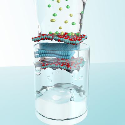 Toward a smart graphene membrane to desalinate water