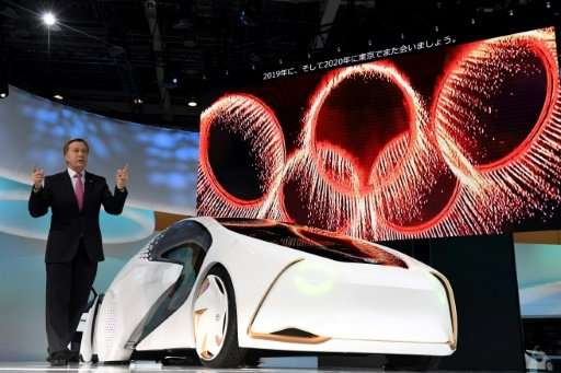 Toyota's CONCEPT-AI car, which aims to understand and react to driver emotions, is unveiled at the Tokyo Motor Show