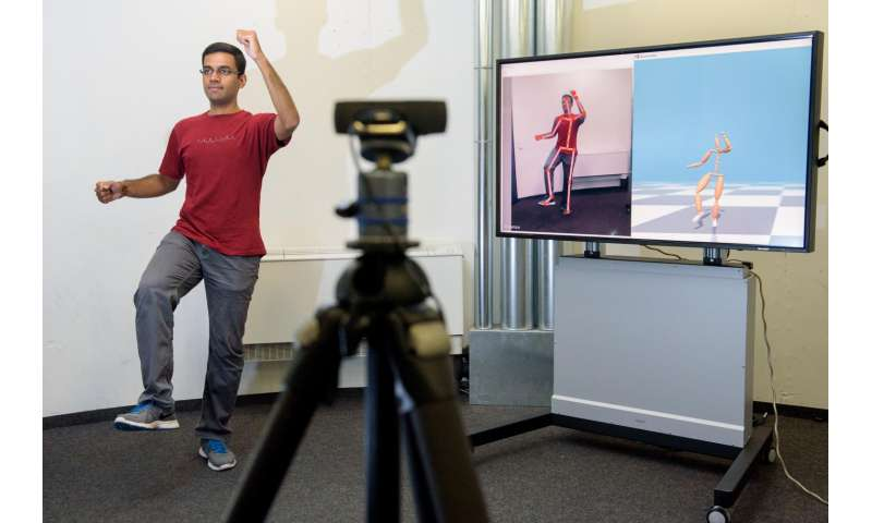 Tracking humans in 3-D with off-the-shelf webcams