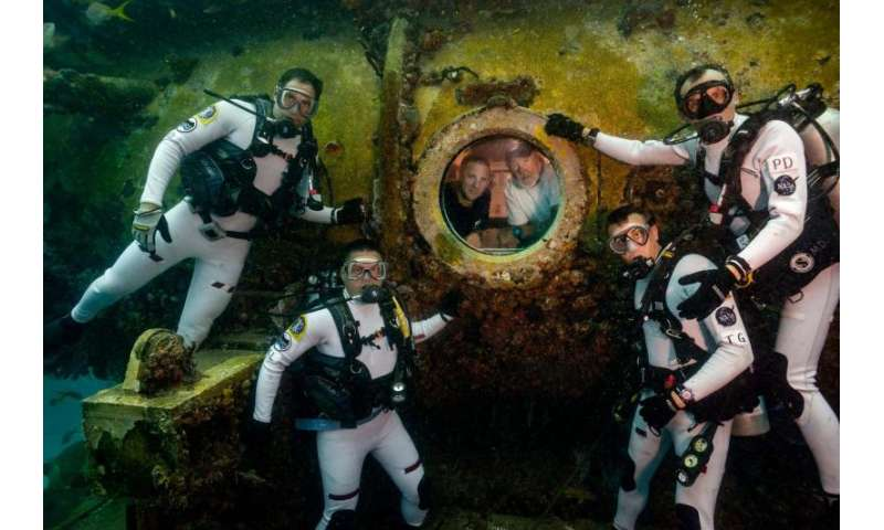 Training for space missions underwater
