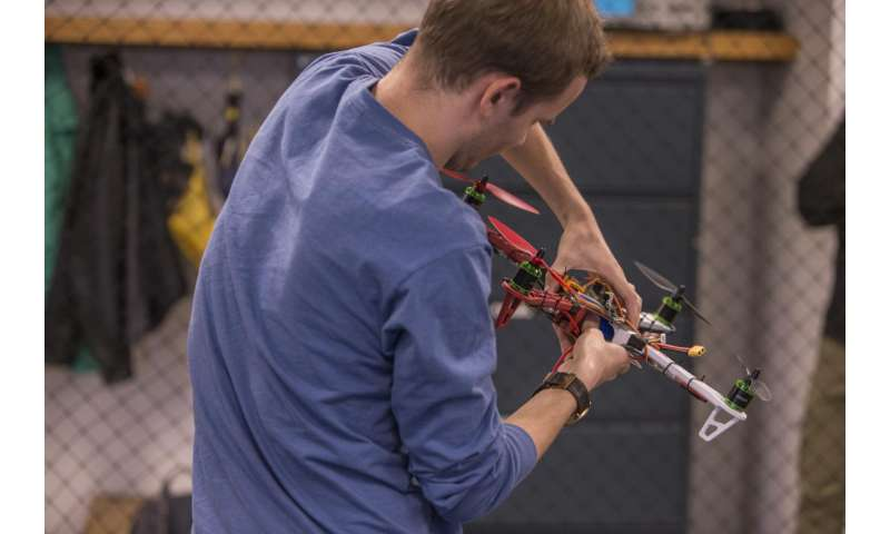 UC researchers teach drones to land themselves on moving targets