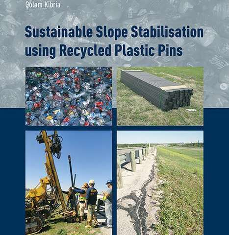 UTA civil engineer's book illustrates the power of recycled plastic in shoring up roads