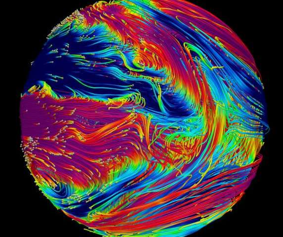 Variable winds on hot giant exoplanet help study of magnetic field