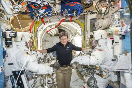 Veteran NASA spacewoman getting three extra months in orbit
