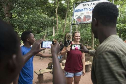 Villagers of Tafi Atome, in Ghana's Volta Region, have made the mona monkeys in the surrounding forest part of an eco-tourist at