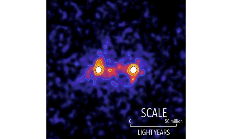 "Waterloo researchers capture first ""image"" of a dark matter web that connects galaxies"