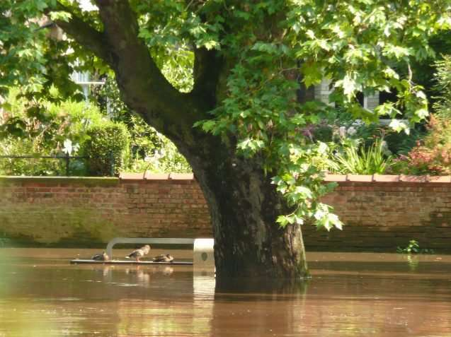 Why do floods sometimes happen on sunny days?