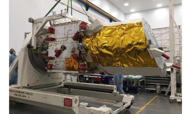 Wind satellite heads for final testing