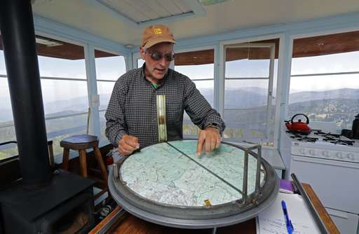 Aging lookout towers still key during fire season in US West