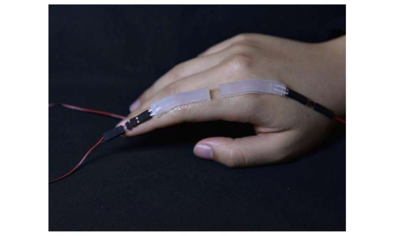 A safe, wearable soft sensor