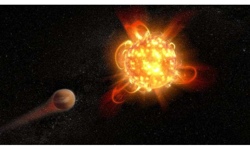 ASU astronomers catch red dwarf star in a superflare outburst