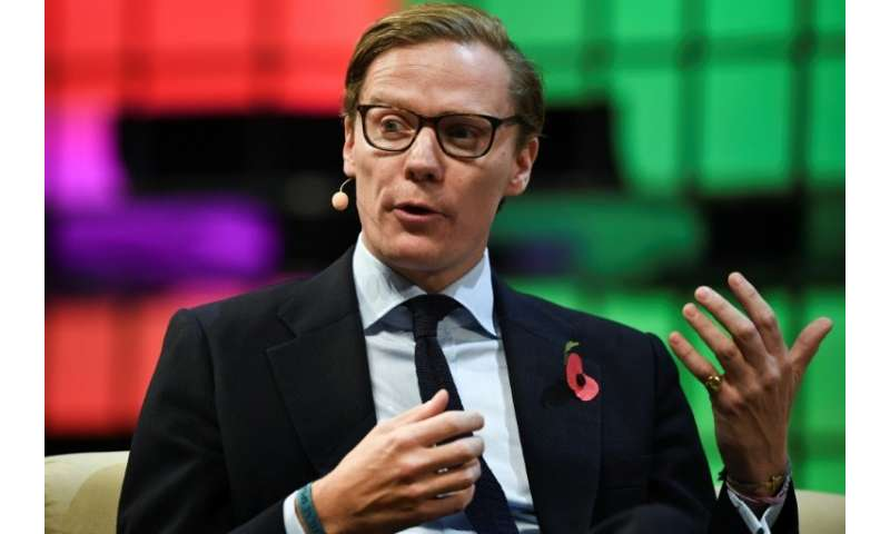 Cambridge Analytica's chief executive officer Alexander Nix gives an interview during the Web Summit in Lisbon on November 9, 20