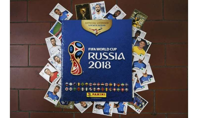 Collectible albums and cards for the 2018 Russia football World Cup, created by the Panini Group at their factory in Modena, nor
