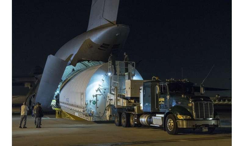 Combined optics, science instruments of NASA's James Webb Space Telescope arrive in California