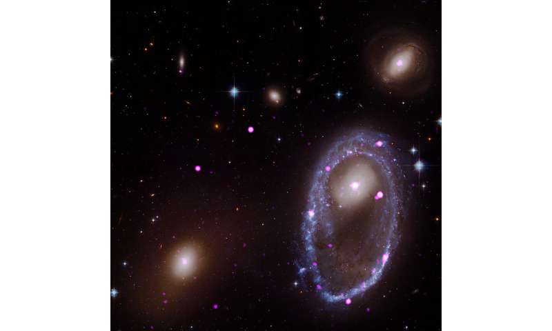 Cosmic collision forges galactic one ring in X-rays
