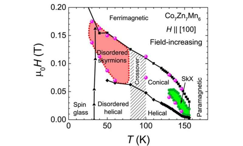 Disordered skyrmion phase stabilized by magnetic frustration in a chiral magnet