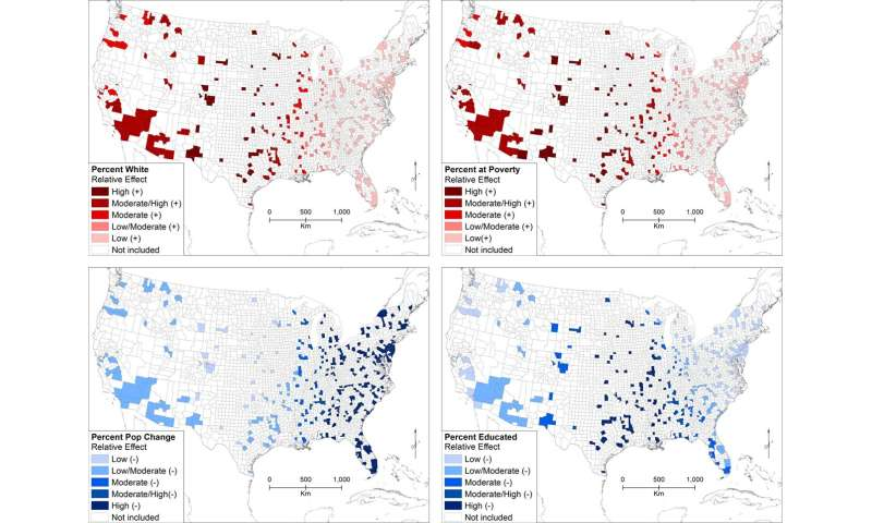 Drivers of hate in the US have distinct regional differences