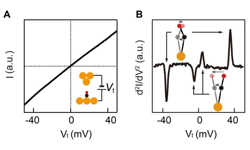 Elucidation of vibration energy of a single molecule in an external force field
