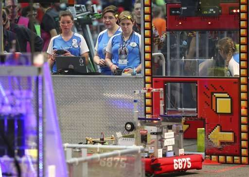 Girl power: All-female teams compete at robotics event