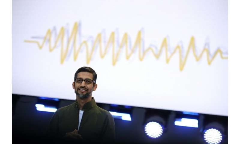 Google CEO Sundar Pichai unveiled new technology that enables the tech giant's digital assistant to sound like a real person, wi