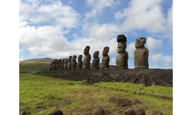Hats on for Easter Island statues