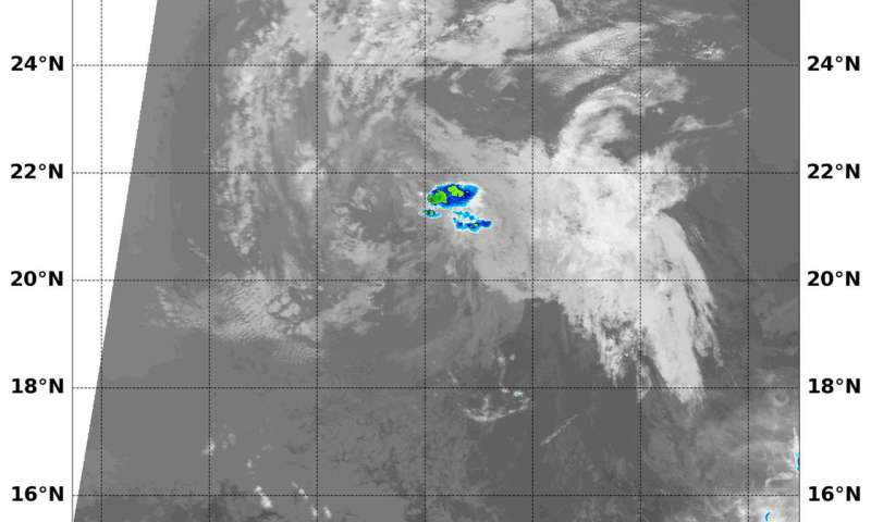 Infrared NASA imagery shows Post-Tropical Cyclone Emilia coming to an end