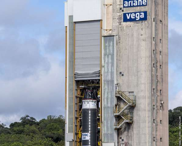 Largest-ever solid rocket motor poised for first hot firing