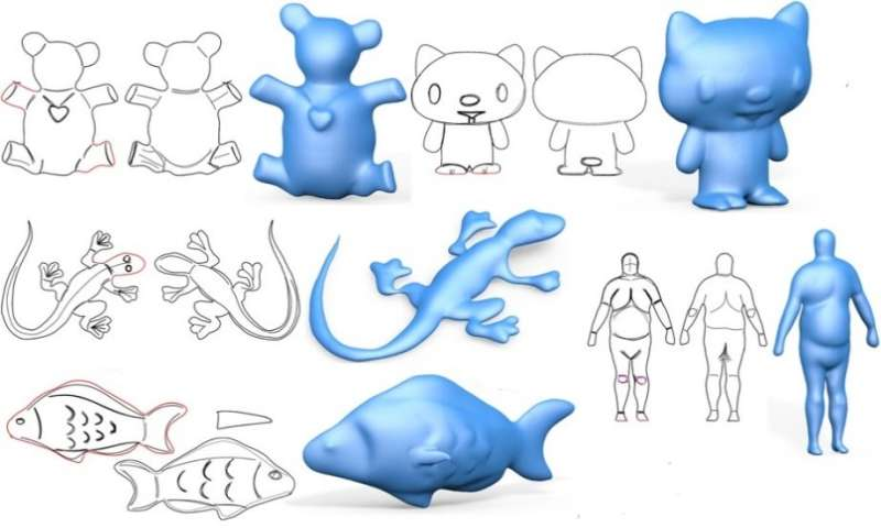 Making it easier to transform freeform 2-D sketching into 3-D models
