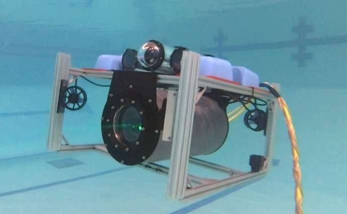 Narrow-beam laser technology enables communications between underwater vehicles