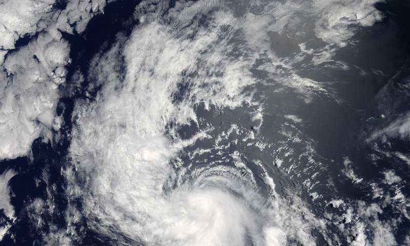 NASA catches a view of a fading Tropical Cyclone Daniel