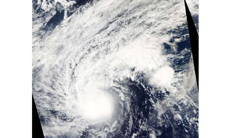 NASA finds a cloud-filled eye in Typhoon Man-yi