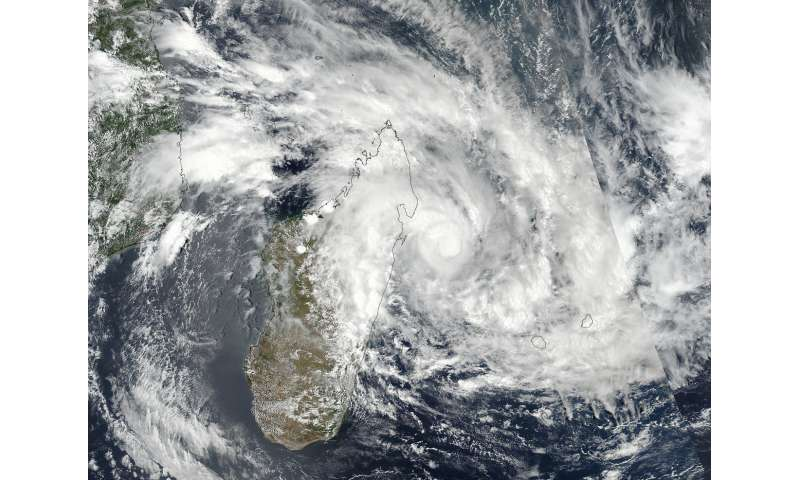 NASA finds a stronger Ava now tracking along Madagascar's coast
