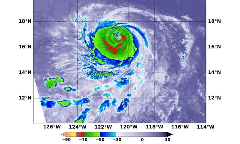 NASA finds a weaker Hurricane Olivia