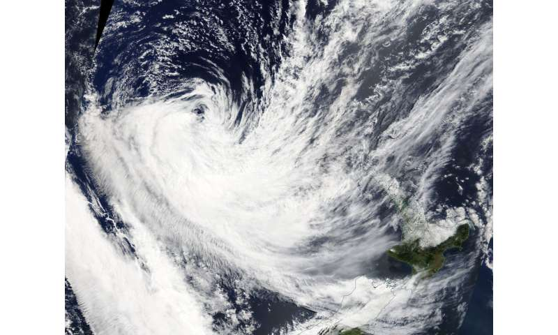 NASA finds Extra-Tropical Cyclone Fehi sheared