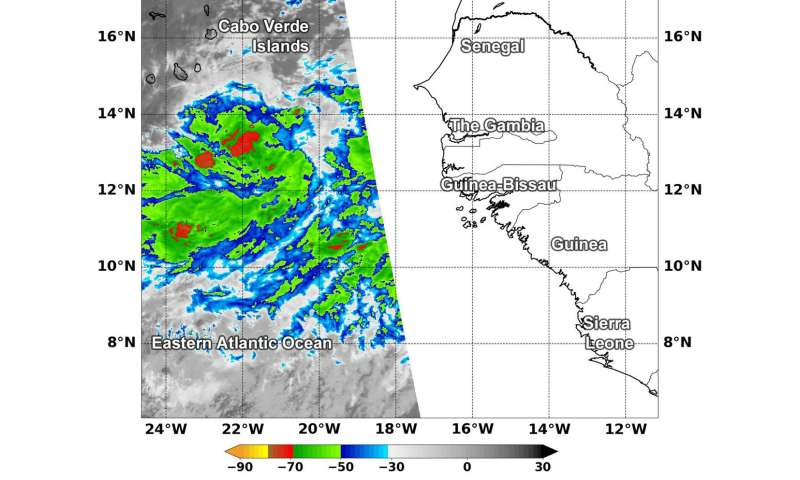 NASA finds some strong storms in Atlantic's potential tropical cyclone 6