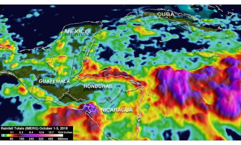 NASA investigated rainfall in Hurricane Michael as it was developing
