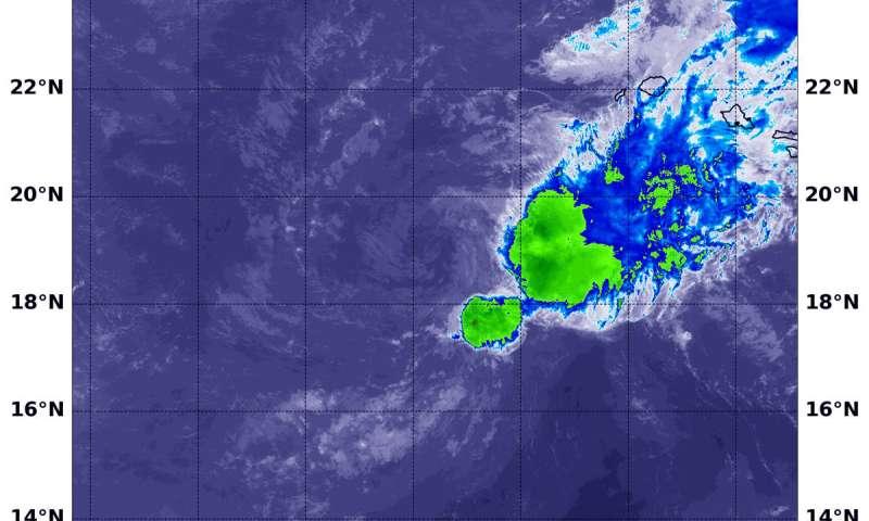 NASA sees wind shear bringing post-tropical Cyclone Olivia toward dissipation