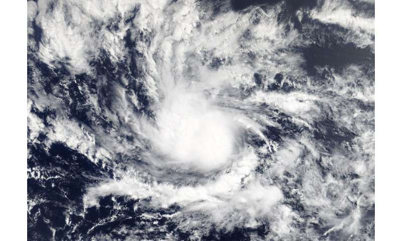 NASA's Terra satellite apots second Atlantic Tropical Depression
