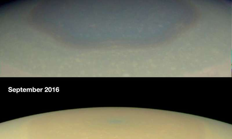 Rings make Saturn shadier, bluer and less hazy in winter