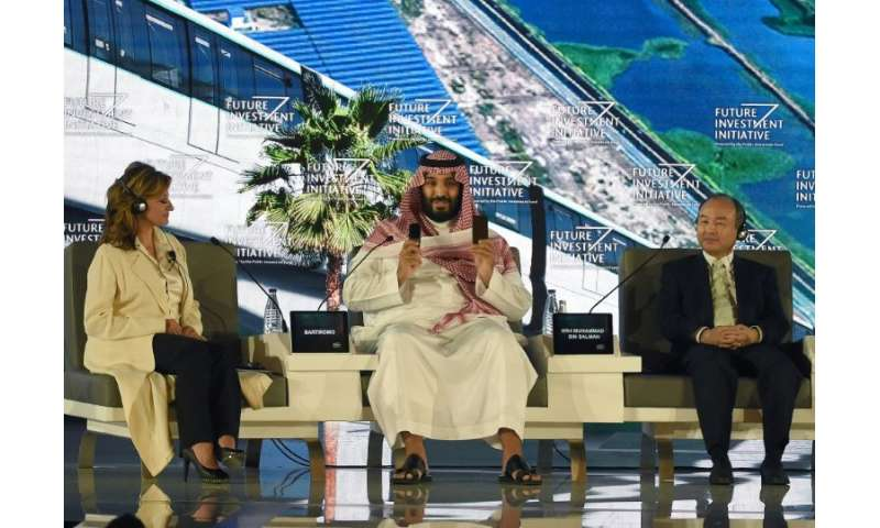 Saudi Crown Prince Mohammed bin Salman and SoftBank CEO Masayoshi Son, who are directing billions of investments in US technolog