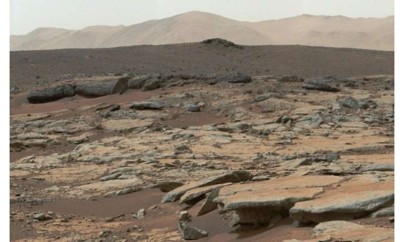 Sediment deposits of an ancient Martian lake the rover Curiosity visited in December 2013