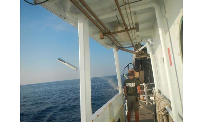 Seismic research cruise provides new data on US Atlantic margin gas hydrates