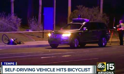 Self-driving vehicle strikes and kills pedestrian in Arizona
